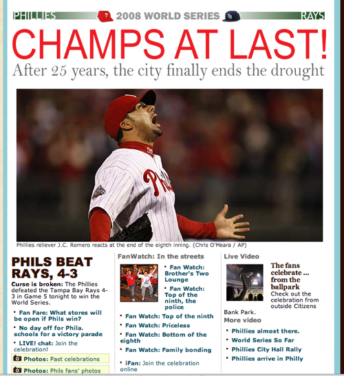 Philadelphia Philles 2008 World Series Champions